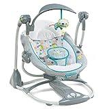 Ingenuity 2 in 1 Babyschaukel und -sitz, Ridgedale - Schaukel und Sitz in einem, mit Vibrationen, Melodien sowie unterschiedlichen Schaukelgeschwindigkeiten