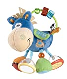 Playgro Plschrassel Pferd, Lernspielzeug, Ab 3 Monaten, BPA-frei, Playgro Toy Box Pferd Klipp Klapp, Blau/Bunt, 40016