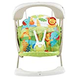 Mattel Fisher-Price CCN92 2 in 1 Babyschaukel im Regenwald Design, mit 6 Geschwindigkeitsstufen, 10 Melodien und 2 beruhigenden Naturgeruschen