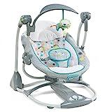 Ingenuity, Ridgedale 2 in 1 Babyschaukel und -sitz, zusammenklappbar, mit Vibrationen, 5 Schaukelgeschwindigkeiten, mehr als 8 Melodien und Lautstrkeregler
